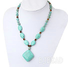 Amazon gem turquoise tiger eye necklace under $ 40