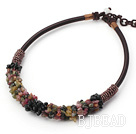 6*8mm tournamel chips beaded necklace