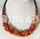 6*8mm agate chip beads necklace