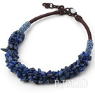 fashion 6*8mm laips beaded necklace