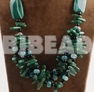 big hit Africa aventurine and green agate neckalce