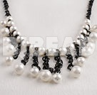 white 10-12mm sea shell beads necklace