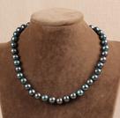 Y shape white pearl rose quartze flower necklace
