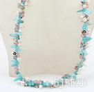 bridal jewelry white pearl crystal and amazon stone necklace under $ 40
