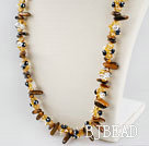 Czech crystal and tiger eye necklace