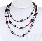 multi strand amethyst and glass beads necklace under $ 40