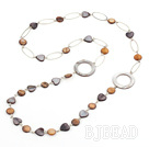 fashion long style party jewelry shell necklace with big loops