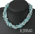 Aquamarine and blue crystal necklace