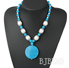 cyanite porcelain necklace under $12