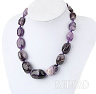 Chunky Style Big Irregular Amethyst graduated necklace