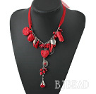 coral and lacquer necklace
