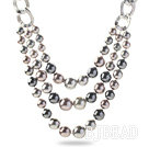 new style sea shell beads necklace with toggle clasp