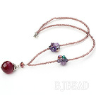 lovely crystal and agate necklace with lobster clasp under $4