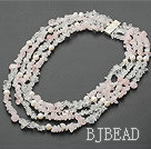 multi strand white crystal and rose quartze necklace
