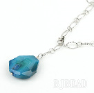 simple and fashion blue agate necklace/pendant