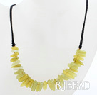 New Design Branch Shape Lemon Jade Necklace with Black Thread