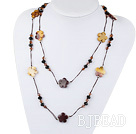 fashion costume jewelry black crystal and vitelline stone necklace under $ 40
