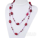 fashion costume jewelry crystal and  agate necklace