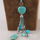lovely 23.6 inches turquoise necklace with extendable chain