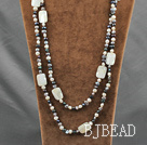 fashion long style pearl and shell necklace