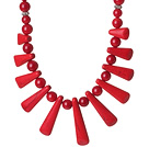 Bella Design Rosso corallo collana in rilievo con Fun Shape Red Coral Accessori