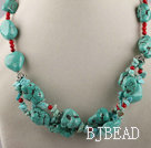 turquoise and bloodstone necklace with moonlight clasp under $ 40