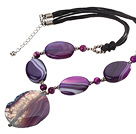 Brazil agate necklace with extendable chain