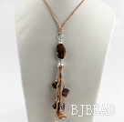 23.6 inches lovely tiger eye angle charm pendant necklace with extendable chain