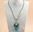 popular style turquoise necklace with extendable chain under $ 40