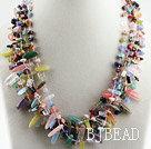 gorgeous multi strand colorful gemstone necklace