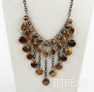 admirably tiger eye necklace with extendable chain under $18