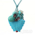 turquoise necklace with extendable chain