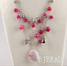 fashion new style pink agate beaded necklace