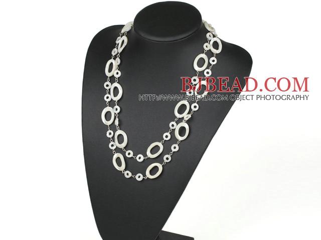 fashion costume jewelry white lip shell necklace