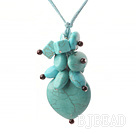 garnet and turquoise necklace with extendable chain under $ 40