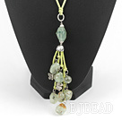 green grape stone necklace with extendable chain