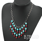 stunning handcrafted coral turquoise necklace