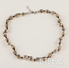 dropshape 8*12mm crystal necklace with extendable chain
