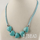 heart turquoise and garnet necklace with extendable chain under $ 40