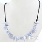 New Design Branch Shape Purple Jade Necklace with Black Thread