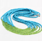 Fashion Style Eight Layer 4mm Plastic Beads Necklace