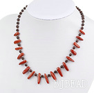 Garnet and red jasper necklace with lobster clasp