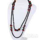 51.2 inches long style red and black crystal nekclace under $ 40