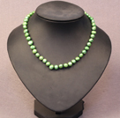 Simple Trendy Style Natural Green Pearl Necklace
