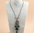 17.7 inches turquoise necklace with extendable chain under $ 40