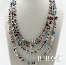 Multi Strands Multi Color Stone Chips Necklace