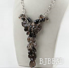 Assorted Natural Smoky Quartz Necklace with Bold Style Metal Chain under $ 40
