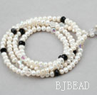White Freshwater Pearl Crystal  Lanyards / Glass Chain