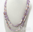 Long Style Purple Series Assorted Freshwater Pearl and Ametrine Necklace under $ 40