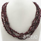Two Long Strands Fillet Garnet Necklace ( no clasp can be worn in different designs) under $ 40